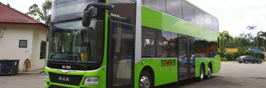 I nuovi autobus a due piani di Singapore sono frutto della collaborazione di MAN Truck & Bus con l'allestitore malese Gemilang