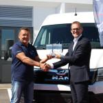 Da sinistra: Ennio Tullio e Matteo De Marchi, Direttore commerciale di MAN Truck & Bus Italia.