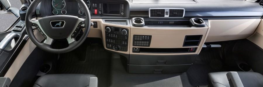DE: Zahlreiche Neuerungen optimieren das Interieur von MAN TGX, TGS, TGL und TGM   EN: Numerous innovations optimise the interiors of vehicles in the MAN TGX, TGS, TGL and TGM series