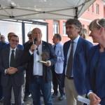 Da sinistra: Marco Lazzoni, Direttore generale di MAN Truck & Bus Italia; Massimo Bettarello, Presidente di ATV; Federico Sboarina, Sindaco di Verona ed Elisa De Berti, Assessore regionale ai trasporti.