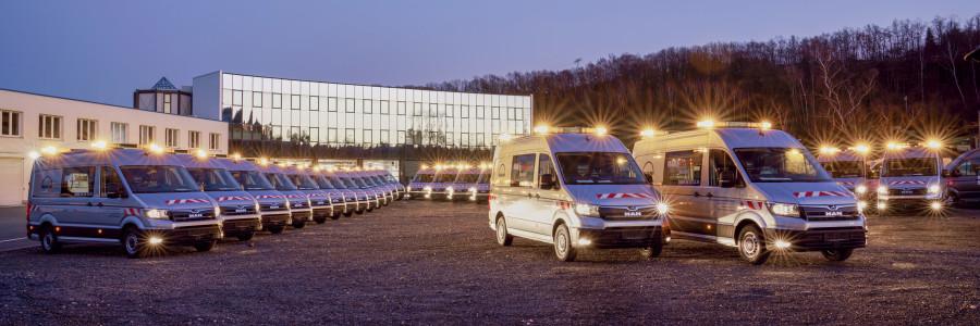 Il MAN Bus Modification Center di Plauen ha realizzato, in un anno, la personalizzazione di 100 MAN TGE